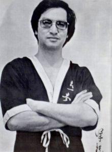 Fotografia in bianco e nero del Great Grandmaster Leung Ting