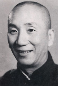 Fotografia in bianco e nero del Great Grandmaster Yip Man