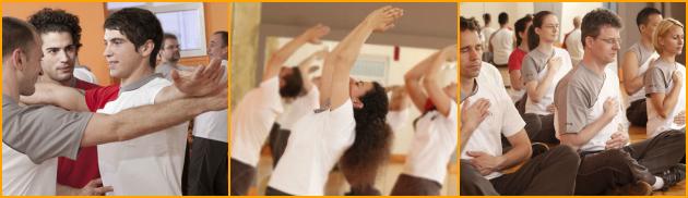 Allievi EWTO che praticano il Chi Kung