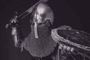 Fotografia guerriero medioevale